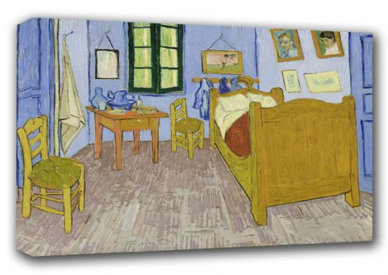 Van Gogh, Vincent: Bedroom at Arles. Fine Art Canvas. Sizes: A3/A2/A1 (00617)